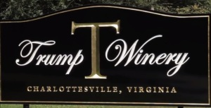 Trump Winery Sign